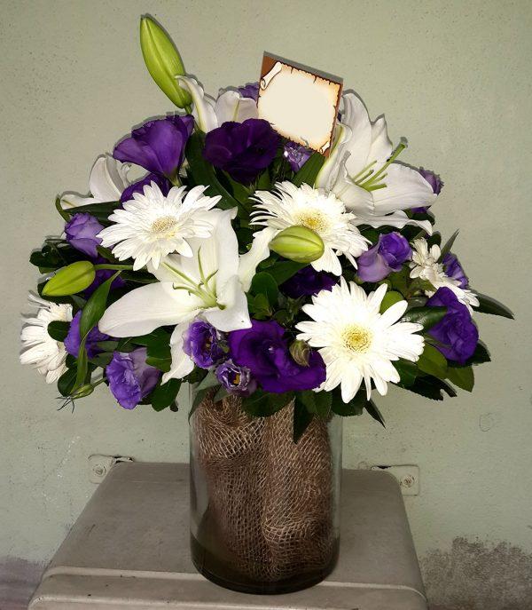 Mor Ve Beyaz Aşk Çiçekleri