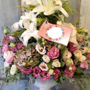 Pembe Ve Beyaz Çiçekler