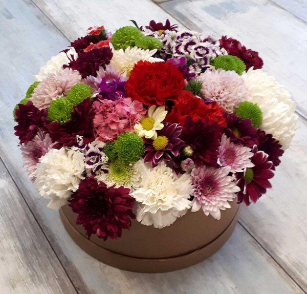 Kutulu Rengarenk Çiçekler